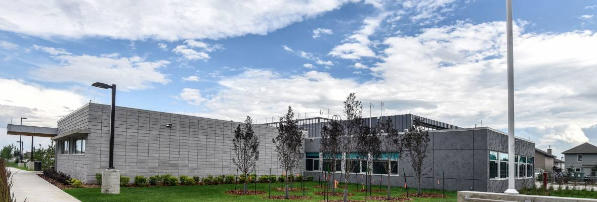Ductal® Rainscreen Cladding Panels Lewis Farm Fire Station Canada