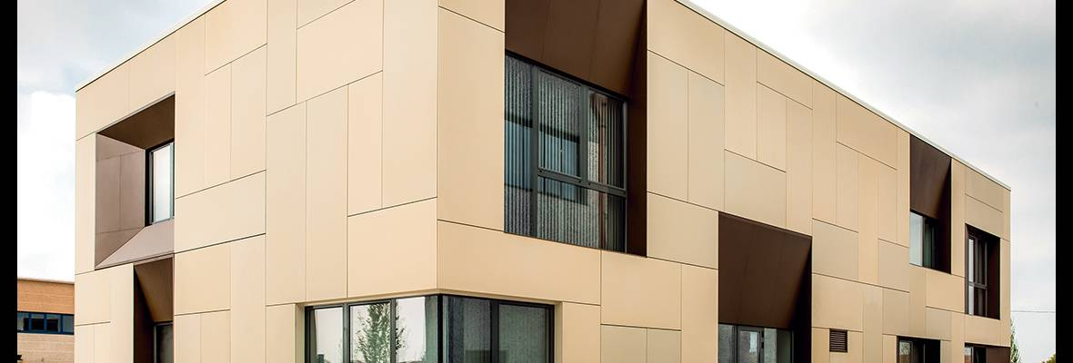 Platform Basket Office Building Italy, Ductal® Rainscreen Cladding panels