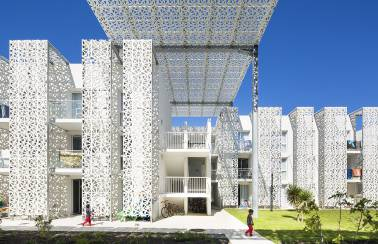 Ductal Lattice panels Nakara Residential Hotel