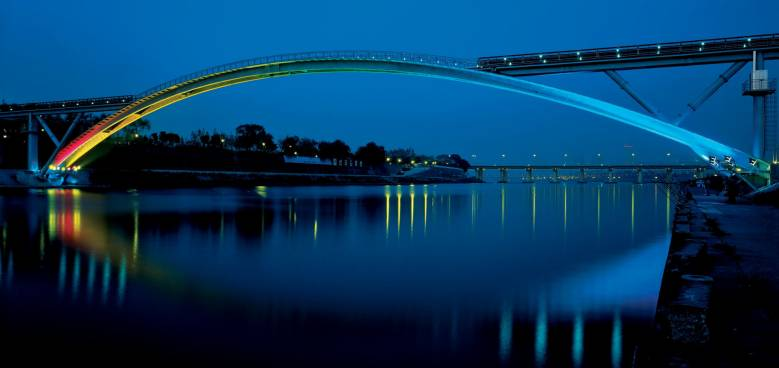 Ductal footbridge solution, The footbridge of peace in Seoul