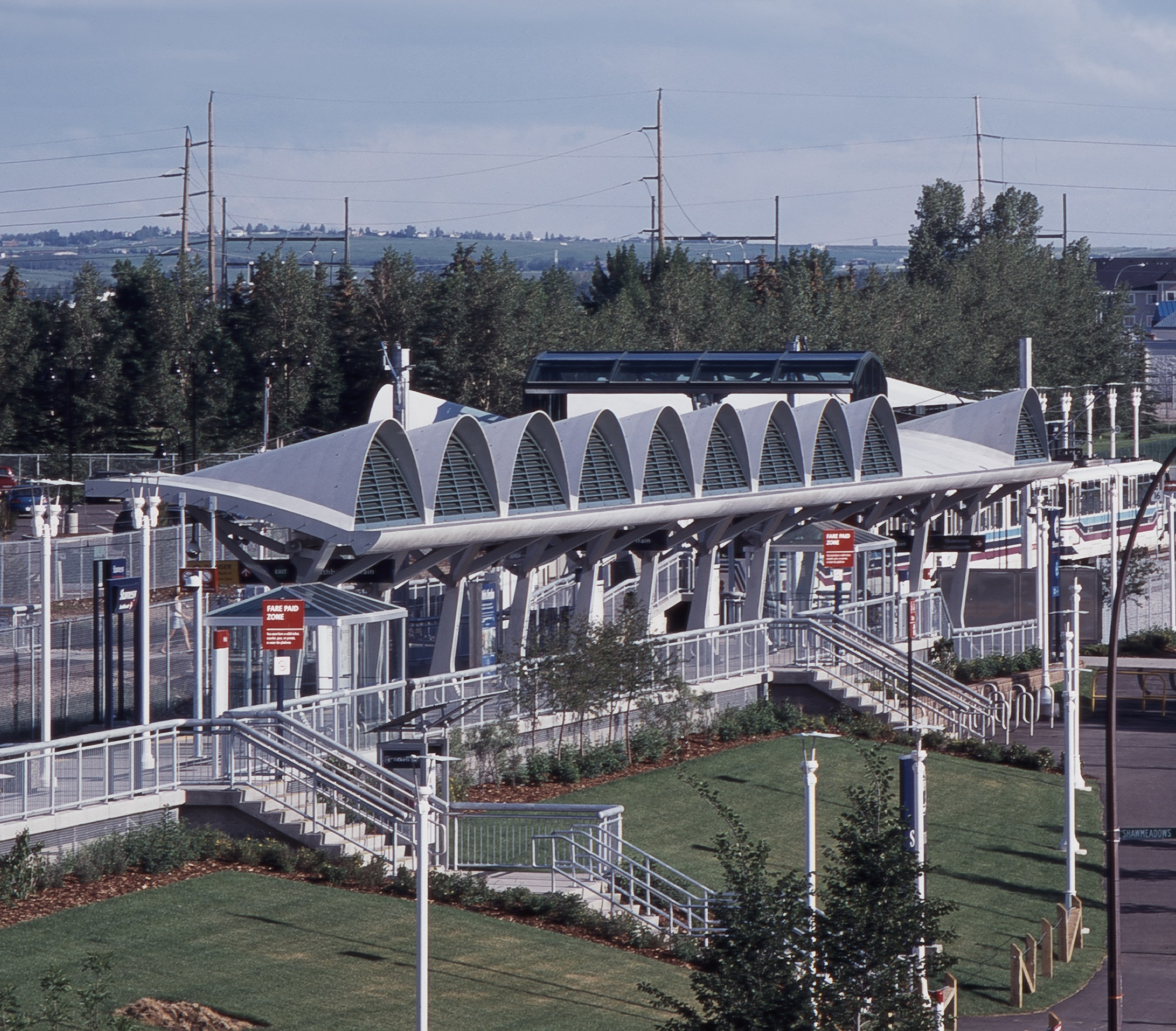 Shawnessy Lrt Station Ductal 174 Roof Canopies